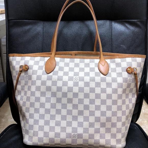 c3345effc6da Louis Vuitton Handbags - LOUIS VUITTON DAMIER AZUR NEVERFULL MM